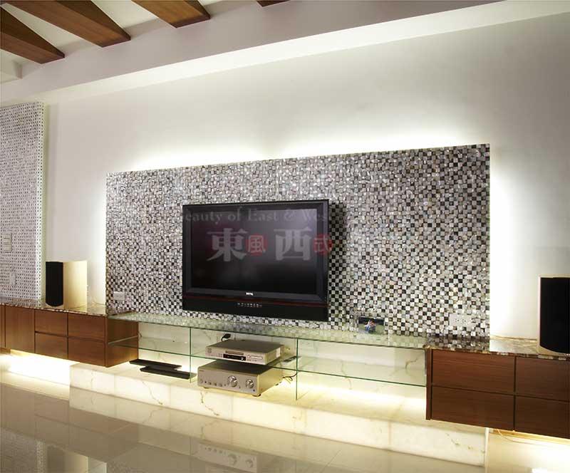 贝壳电视背景墙