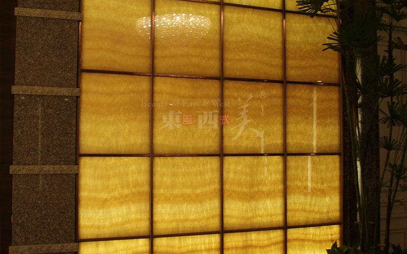 透光石电视背景墙